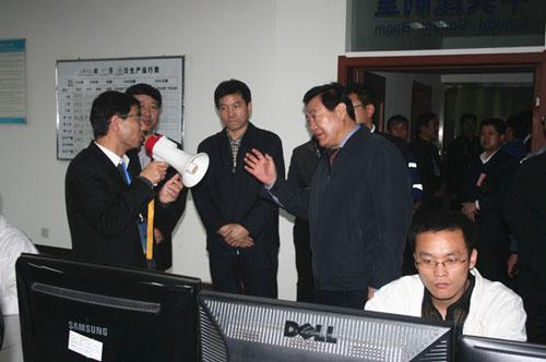 陕西省副省长李金柱到旬阳尧柏参观指导